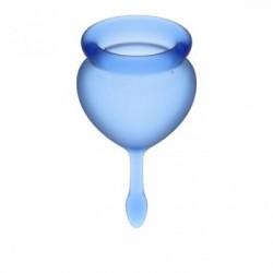 Satisfyer Feel Good Menstruatie Cup Set - Blauw