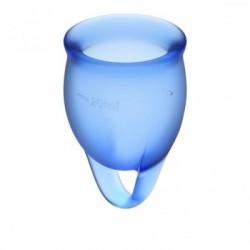 Satisfyer Feel Confident Menstruatie Cup Set - Blauw